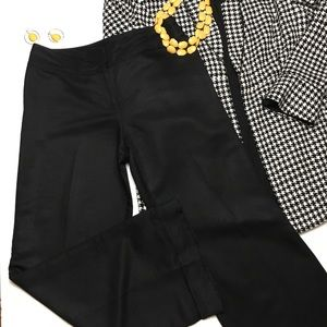 Loft Laura Black Trouser Dress Pants Cuff, sz 6